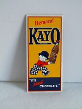 KAYO KID PORCELAIN METAL ADVERTISING SIGN IN EXCELLENT CONDITION.  25 YEARS OLD