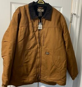 Gravel Gear Washed Duck Chore Coat - Brown SIZE XL
