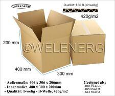 60 Faltkartons 400x300x200mm B-420g/m2 Versandkarton Postkarton Falt Kartons