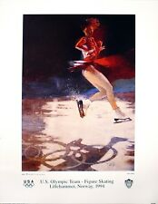 Original poster 1994 Norway Olympics -  U. S. Figure Skating