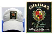 CADILLAC BEER LABEL BALL CAP DETROIT, MI