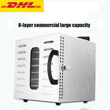 US 8 Trays Food Dehydrator Fruit Vegetable Meat Dryer Drying Machine 110V