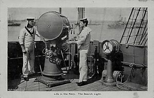 POSTCARD SHIPS - NAVAL LIFE -  THE SEARCH LIGHT
