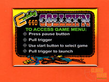 "Exidy Collexn multigame 2x3"" instructional magnet Cheyenne theme"