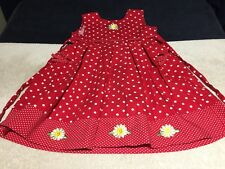 Blueber: Boulevard Girls Sz 5 Red And White Polka Dots And Daisies