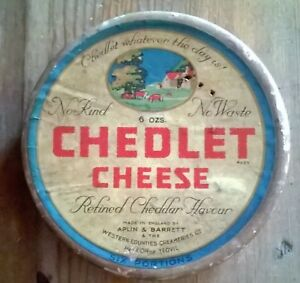 Vintage Chedlet Cheese advertising box collectable