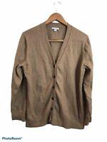 J. Crew Mercantile Beige Long Sleeve Button Up Cardigan Sweater XL Cotton & Wool