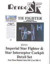 RetroKits Models 1/72 TIE FIGHTER COCKPIT DETAIL SET Resin Kit