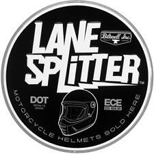 BILTWELL SHOP SIGN - LANE SPLITTER - BLACK/WHITE **BRAND NEW** (DS-LANE4-RND)