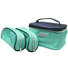 Tupperware Cosmetic Case Travel Toiletry Pouch Bag Set of 3