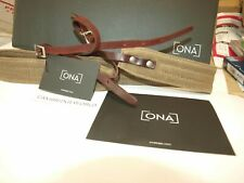 ONA Presidio New Padded Canvas Leather Camera Carrying Neck Strap Field Tan