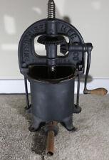 Vintage Enterprise Cast Iron Sausage Stuffer Lard Press Wine Fruit Press 2070