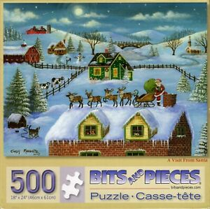 Visit From Santa 500 Piece Puzzle - Cindy Mangutz