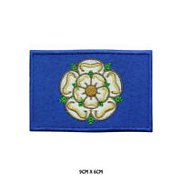 YORKSHIRE County Flag Embroidered Patch Iron on Sew On Badge For Clothes Etc