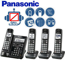 Panasonic Answering Machine 4 Cordless Handsets Call Block Talking ID KX-TGF544B