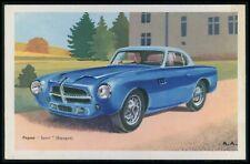 Pegaso Sport Spain Automobile car original old 1950s Tobler postcard