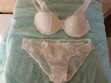 Boux Avenue Tori Ivory Lace Bra Size 32B  & Briefs  Size 8 NWT