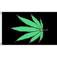GLOW LEAF 3 x 5 FEET WEED FLAG WALL HANGING POSTER MARIJUANA RP0080
