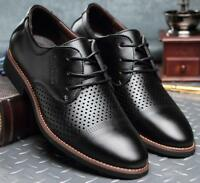 Mens Dress Formal Shoes Leather Casual Brogue Breathable Flat Business Moccasins