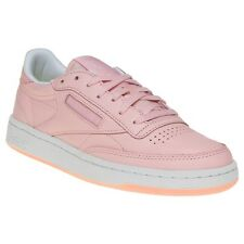 New Womens Reebok Pink X Face Stockholm Club C 85 Leather Trainers Court Lace Up