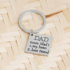Dad Hero and Best Friend Keychain Love Perfect Father's Day Gift Key Gift Daddy