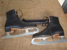Men's Riedell 216 Ice Skates Black Leather Mk Fiesta Blades Size 7