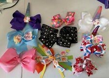 New Girls Boutique 10 Mixed Ribbon Hair Bows Bows lot Glitter Unicorn Rainbow