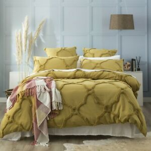 Renee Taylor Moroccan Cotton Chenille Tufted Quilt Cover Set-Willow