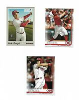 2019 Nick Senzel RC Topps Update Series US50 & Topps Heritage 507 SP