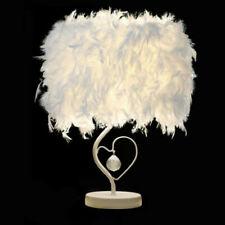 Modern Feather Shade Light Bedside Table Desk Lamp...