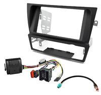 Autoradio Radioblende Adapter Kabel Set für BMW mit Canbus Adapter schwarz 2-DIN
