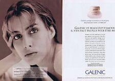 PUBLICITE ADVERTISING 114 1993 Galénic  cosmétiques ( 2p)