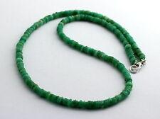 Natur Chrysopras Kette Edelsteinekette grün Scheibenform Halskette Collier 45 cm