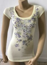MOSSIMO SUPPLY CO Womens Size XS Short Sleeve Casual Tee T Shirt Floral Print