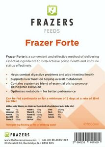 Forte Frazers Multivitamin 1000ml Racing Pigeon Poultry