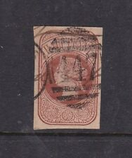 Gb Queen Victoria Stationary cut out Cancel 447 Leeds
