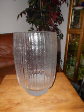Huge Heavy Tapio Wirkkala Ice Art Glass Vase Finland