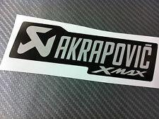 1 Adesivo Stickers AKRAPOVIC Xmax X max black resistente al calore