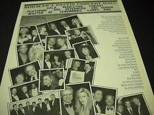 NORMAN PATTIZ CONCERT HALL 1989 promo ad TOM PETTY Kim Carnes DON JOHNSON others