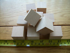 "20x Wood cubes. Wooden cubes / blocks.32mm 1 1/4"" BEECH not Birch"
