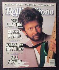 1988 ROLLING STONE Magazine #533 FN- 5.5 Eric Clapton - Robert De Niro