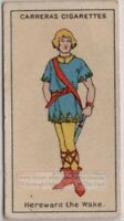 'Hereward the Wake' Anglo-Saxon Rebel Kingsley Novel 1920s Trade Ad Card