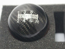 Mugen Style Carbon Fibre 6 Speed Gear Knob Red Stripe Civic Type R EG EK9 DC5 EP