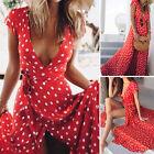 Boho Long Maxi Dresses! Women Summer Evening Party Cocktail Dress Beach Sundress