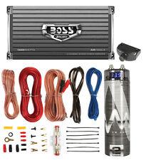 Boss AR1600.4 1600W 4-Ch Car Amplifier + Remote + 2.0 Farad Capacitor + Amp Kit