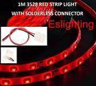 1M SMD 3528 FLEXIBLE WATERPROOF RED LED STRIP LIGHT CAR UTE VAN CAMPING CARAVAN