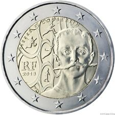 "* Frankreich 2013 2 Euro Sondermünze ""150 Geburtstag Baron Pierre de Coubertin"""