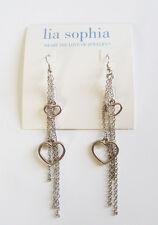 Lia Sophia Jewelry Hearts Earrings in Silver