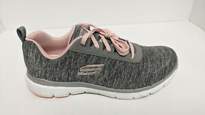 Skechers Flex Appeal 3.0 Sneakers, Grey/Pink, Women's 9 M