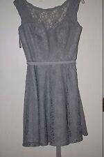 Mori Lee Lace Bridesmaid Dress - Style 725 Silver Size 10